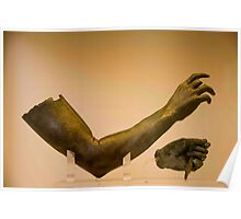 Bronze Arm And Hand Poster