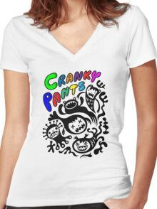Cranky Pants   Women's Fitted V-Neck T-Shirt