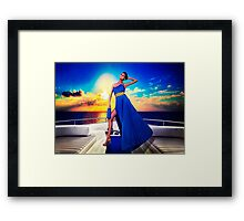 High Fashion Yacht Fine Art Print Framed Print