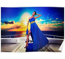 High Fashion Yacht Fine Art Print Poster