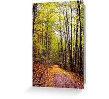 Autumn Country Lane I / Greeting Card