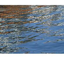Coloured Water Reflections  Photographic Print