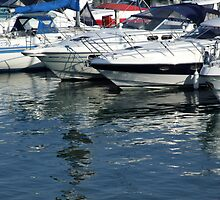 Reflections at Brighton Marina by pcimages