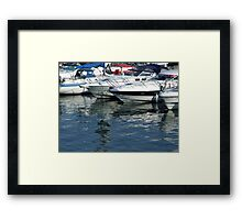 Reflections at Brighton Marina Framed Print