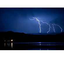 Boulder County Lake Lightning 08.05.09 Photographic Print