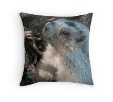 Killer Marmot Throw Pillow
