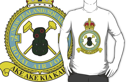 75(NZ) Squadron RAF merchandise Online store for 75(NZ) Squadron RAF merchandise – all profits to the Memorial Garden in Mepal