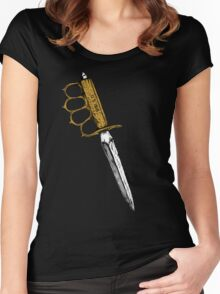 World War 1 Trench Knife Alone Women's Fitted Scoop T-Shirt
