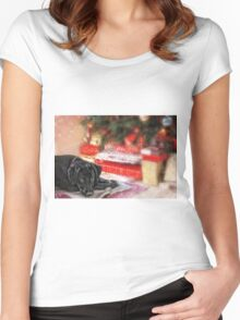 Waiting for Santa...... Women's Fitted Scoop T-Shirt