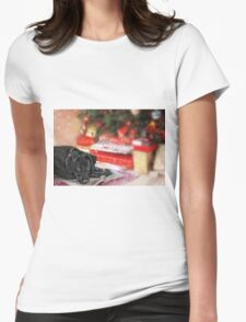 Waiting for Santa...... Womens Fitted T-Shirt