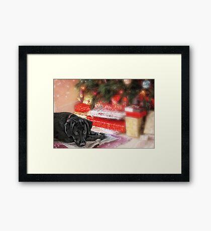 Waiting for Santa...... Framed Print