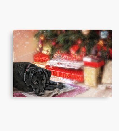 Waiting for Santa...... Canvas Print