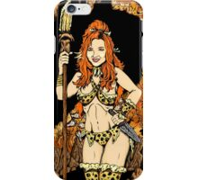 Cave-Girl Pin-Up iPhone Case/Skin