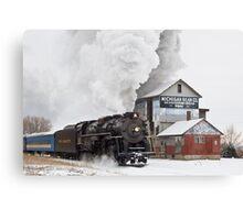 Pere Marquette 1225 Passes the Michigan Bean Company Canvas Print