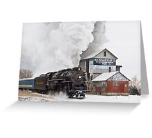 Pere Marquette 1225 Passes the Michigan Bean Company Greeting Card