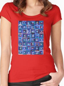 Blue Note Quilt Women's Fitted Scoop T-Shirt
