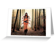 Angel in the forest Fine Art Print Greeting Card