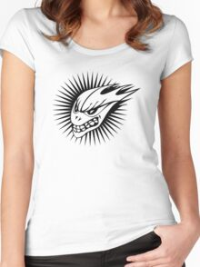 Skull Spike  Women's Fitted Scoop T-Shirt