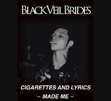 """Black Veil Brides """"Youth and Whiskey"""" Lyrics Unisex T-Shirt"""