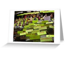 Spices of Life Greeting Card