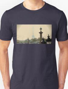 PARIS EIFFEL TOWER IN THE MYST Unisex T-Shirt