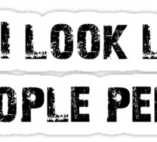 People Person (Black) Sticker