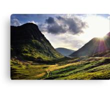 Sundown in Glencoe Canvas Print