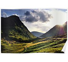 Sundown in Glencoe Poster