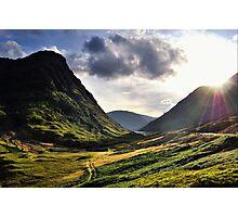 Sundown in Glencoe Photographic Print