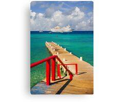 Cayman Islands cruise ship dock Canvas Print