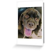 CoCo--You're going WHERE without me?? Greeting Card