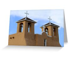 San Francisco de Asis Mission Bell Towers Greeting Card