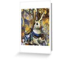 Childhood Dreams - Chasing the White Rabbit Greeting Card