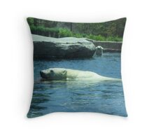 Playful Polar Bears Throw Pillow