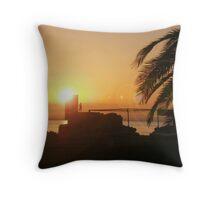 Sunrise Over Salou Throw Pillow