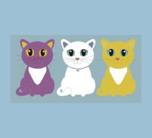 Only Three Cats Kids Tee