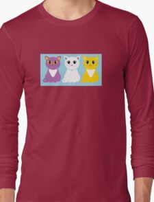 Only Three Cats Long Sleeve T-Shirt