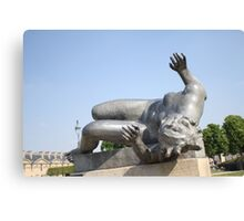 SCULPTURE IN THE JARDIN desTUILERIES, PARIS Canvas Print