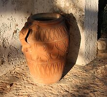 Amphora in the light of the sunset  by annalisa bianchetti
