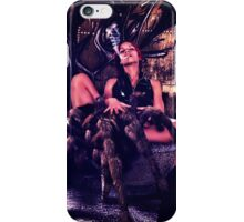 Model With Spider In Abandoned Room iPhone Case/Skin