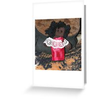 Young Lady in Eveningwear Greeting Card