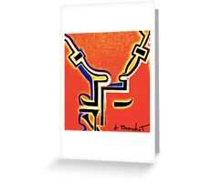 face to face heat Greeting Card