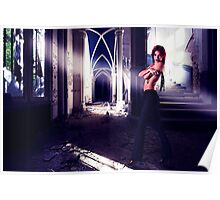Fashion Model In Abandoned House Poster