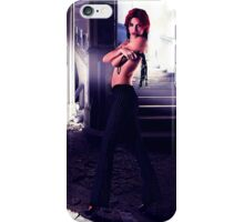 Fashion Model In Abandoned House iPhone Case/Skin