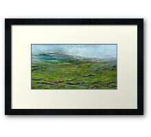 On the moor Framed Print