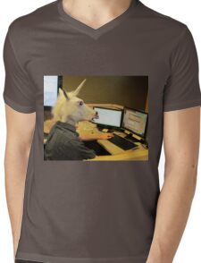 Unicorn in a cubicle #2 - the crushing of the soul Mens V-Neck T-Shirt
