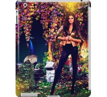 Beautiful Model In The Garden iPad Case/Skin