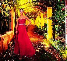 Model In The Garden Fine Art Print by stockfineart