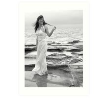 A Blustery Evening on the Shores of Lorne Art Print