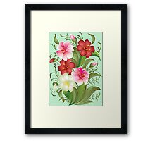 Floral watercolor bouquet Framed Print